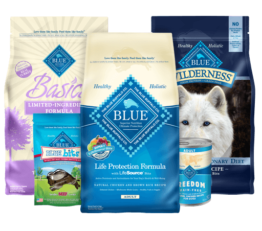 wide variety of Blue Buffalo dog food