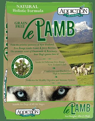 le lamb addiction dog food