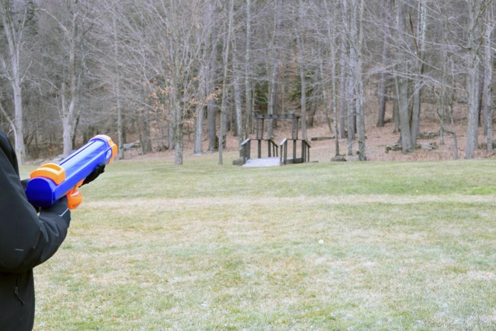 nerf dog ball blaster apžvalga