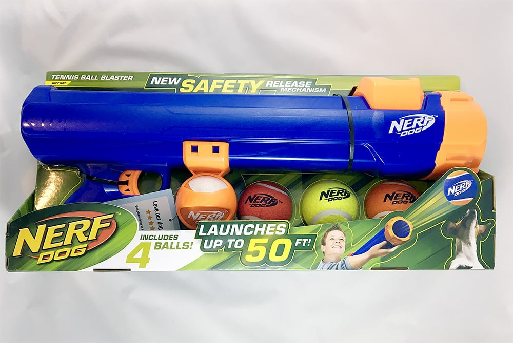 unboxing nerf dog ball launcher