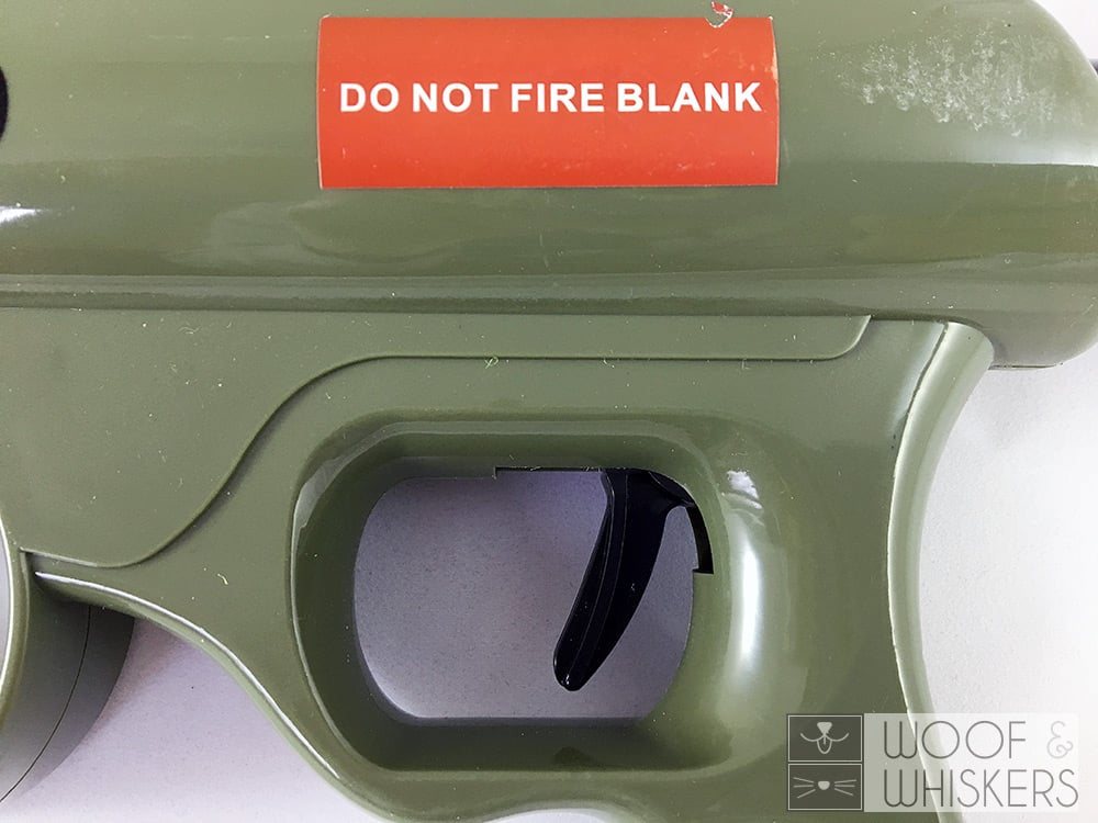 sticker on side of the launcher