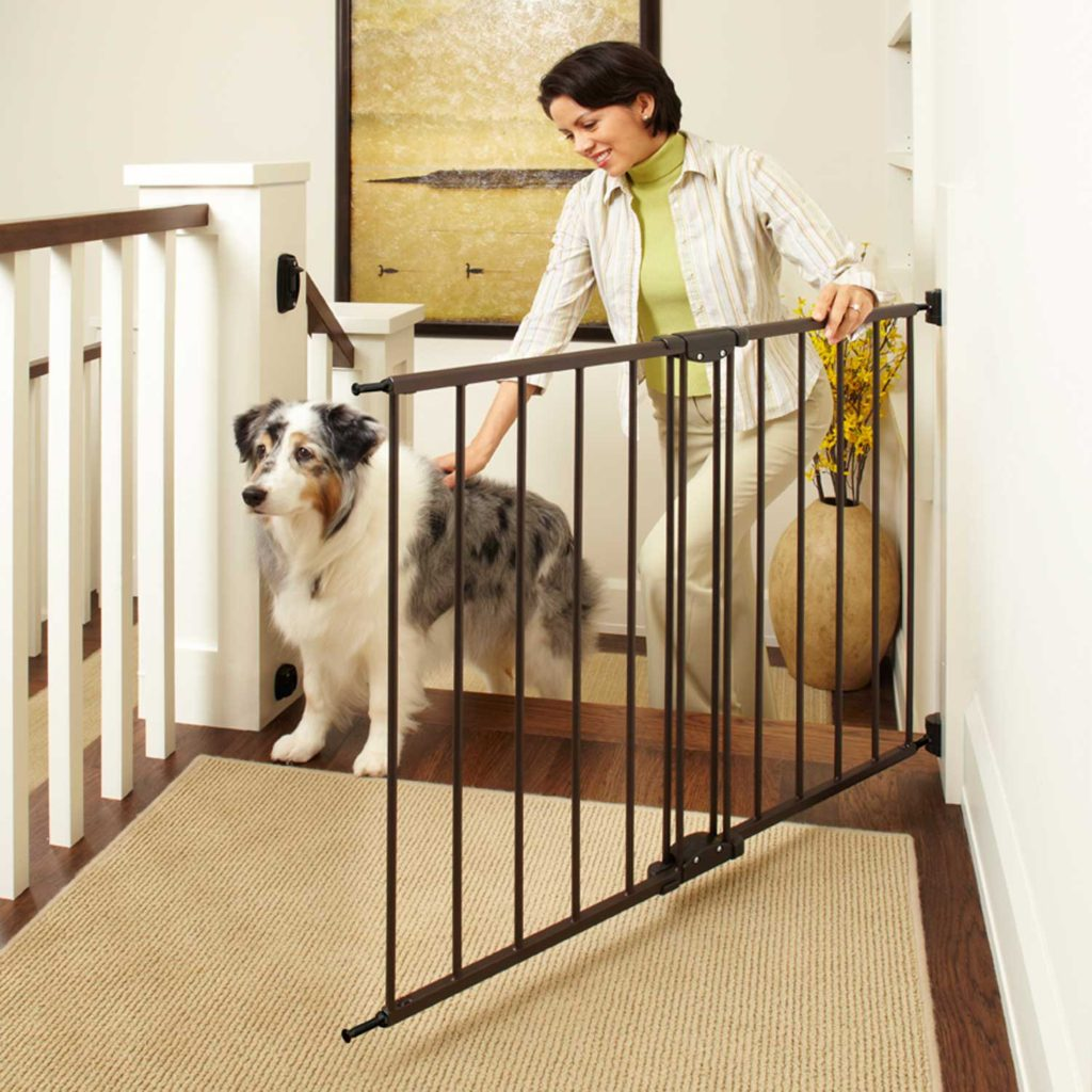 dog gate by stairs