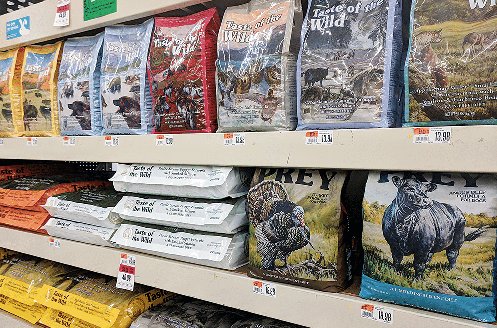 Taste of the Wild dog food bags