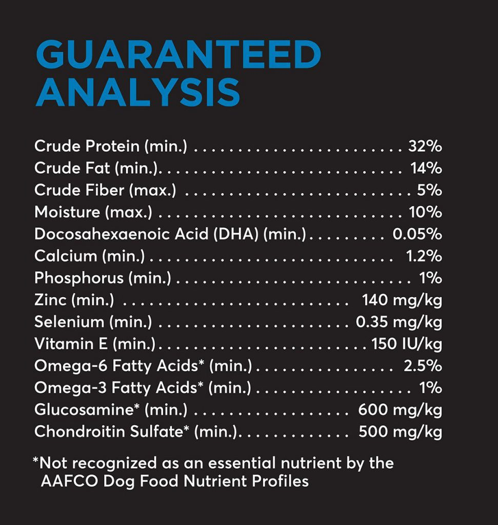 pet food guaranteed analysis