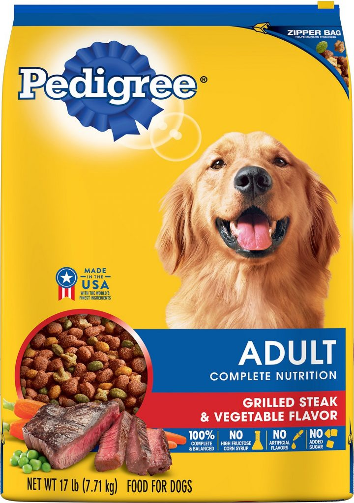 pedigree adult dog food steak flavor