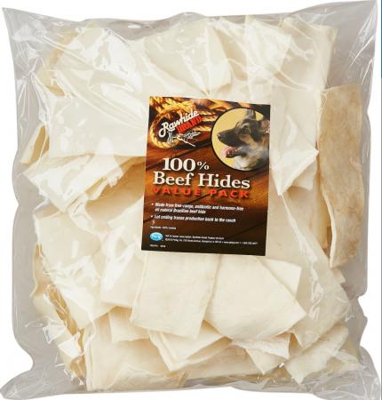 PetAg Rawhide Brand Natural Beef Hides Chips Dog Treats