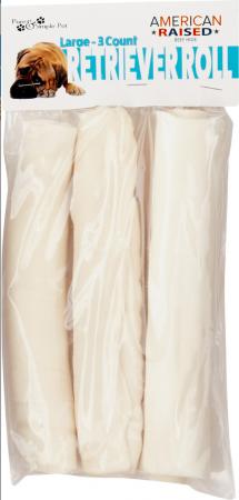 Pure & Simple Pet Rawhide Retriever Roll
