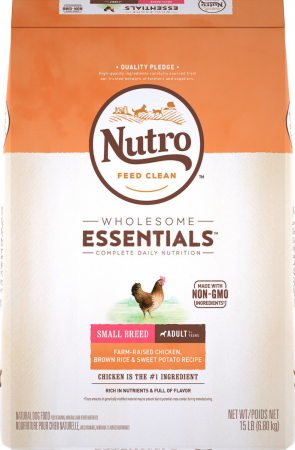Nutro Wholesome Essentials Small Breed Adult Farm-Raised Chicken, Brown Rice & Sweet Potato Recipe Dry Dog Food
