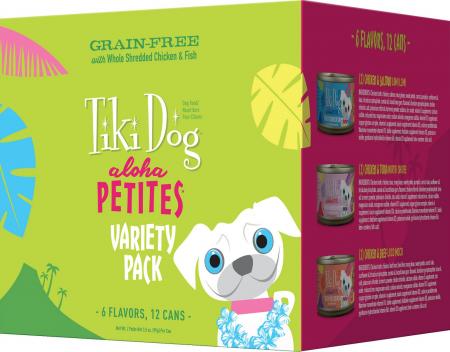 Tiki Dog Aloha Petites--Variety Pack Grain-Free Canned Dog Food