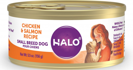 Halo Chicken & Salmon Recipe Grain-Free Small Breed Canned Dog Food