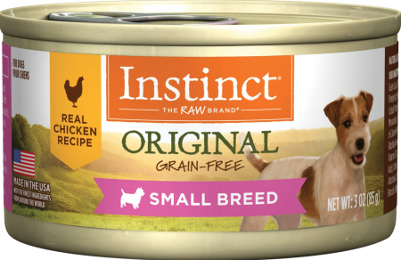 Instinct Original Small Breed Grain-Free Real Chicken Recipe Wet Canned Dog Food