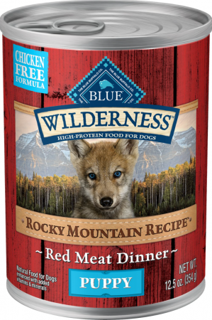 Blue Buffalo Wilderness Rocky Mountain Recipe Red Meat Dinner Puppy Grain-Free Canned Dog Food