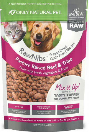 Only Natural Pet RawNibs Grain-Free Freeze-Dried Beef & Tripe