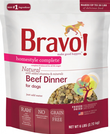 Bravo! Homestyle Complete Grain-Free Freeze-Dried Beef Dinner