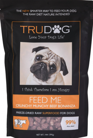 TruDog Feed Me Crunchy Munchy Grain-Free Raw Freeze-Dried Beef Bonanza